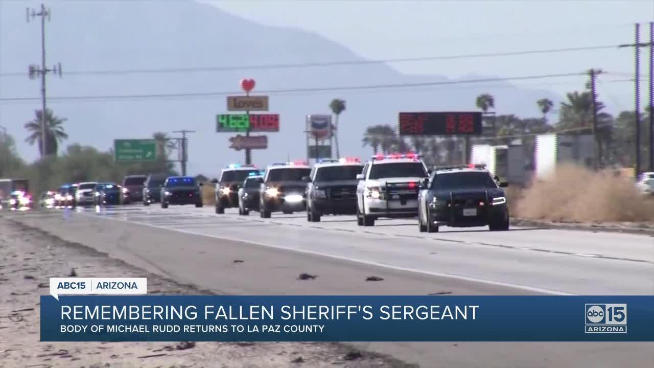 Community, fellow officers remember Sgt. Michael Rudd