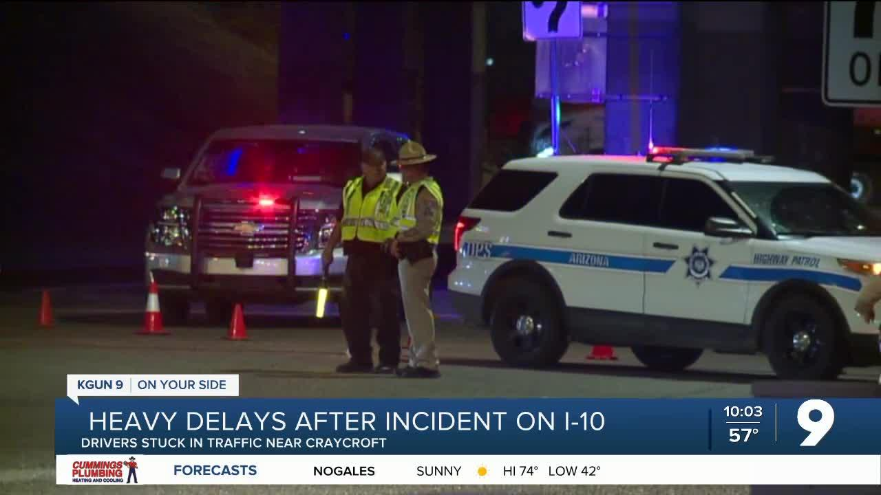 Drivers react to heavy delays after homicide on I-10