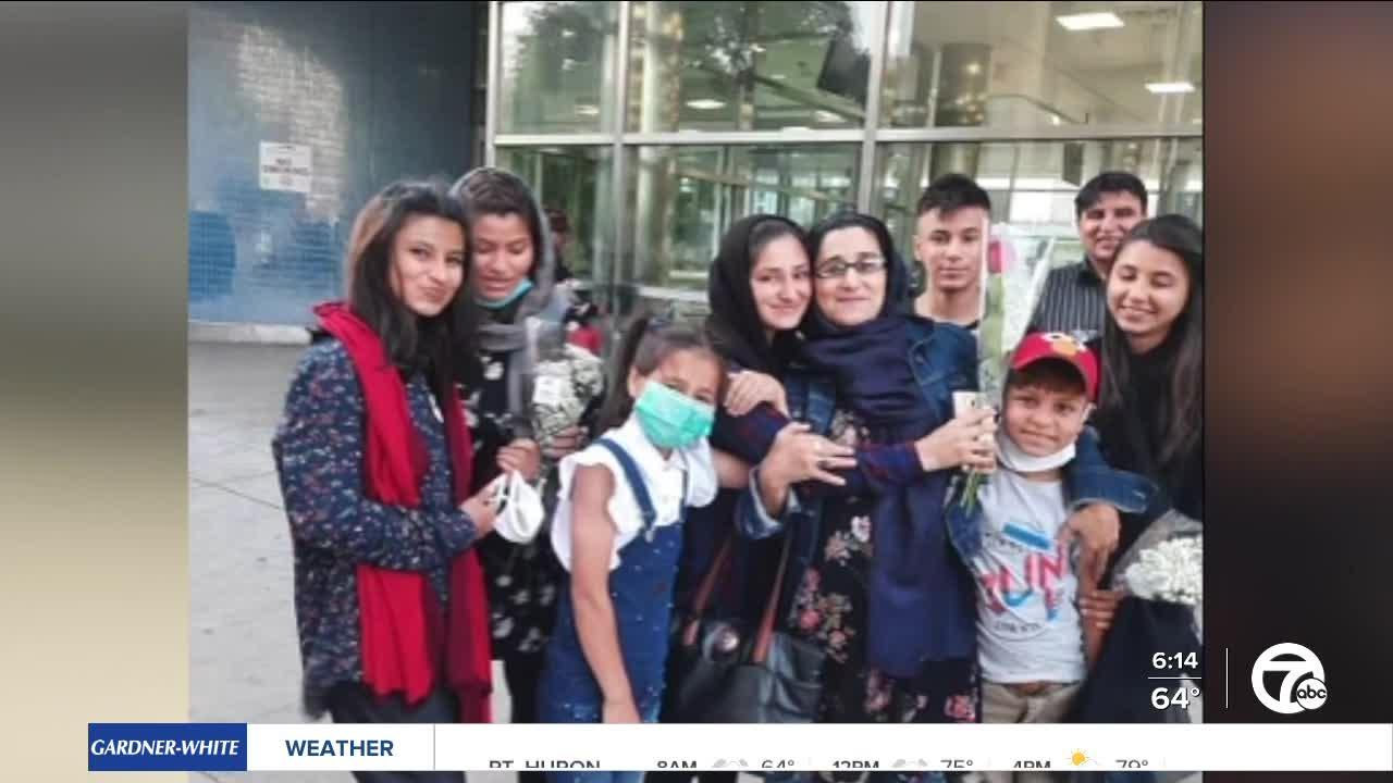 Afghan family separated for 7 years now reunited & starting new life in metro Detroit