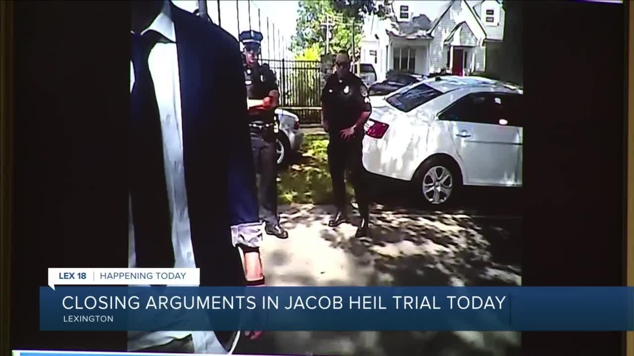 Closing arguments in Jacob Heil trial today