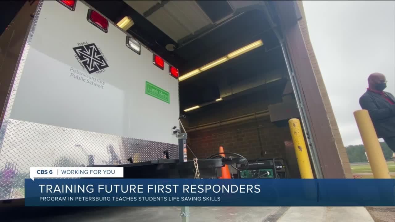 Petersburg High School program trains future first responders