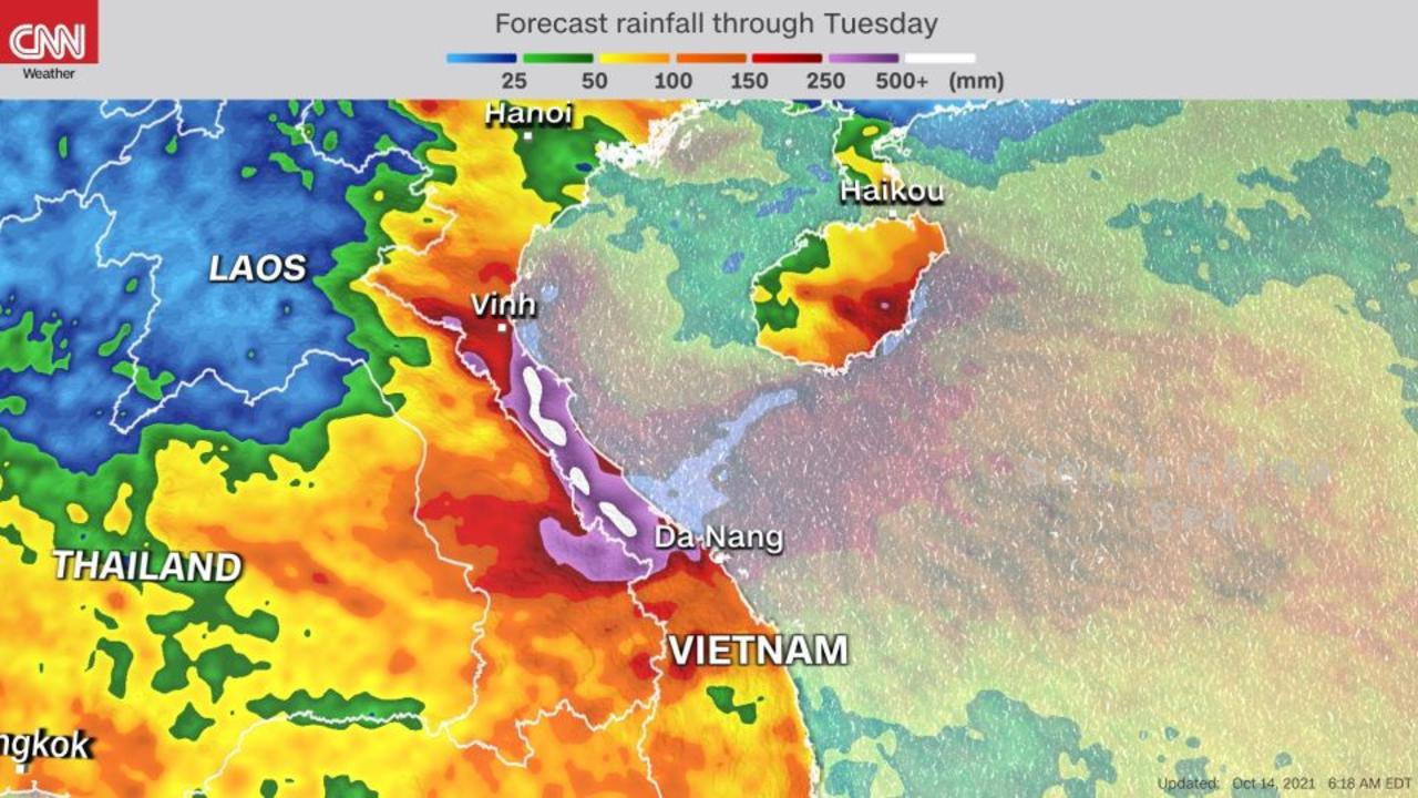 Rain and potential flood risk for Vietnam