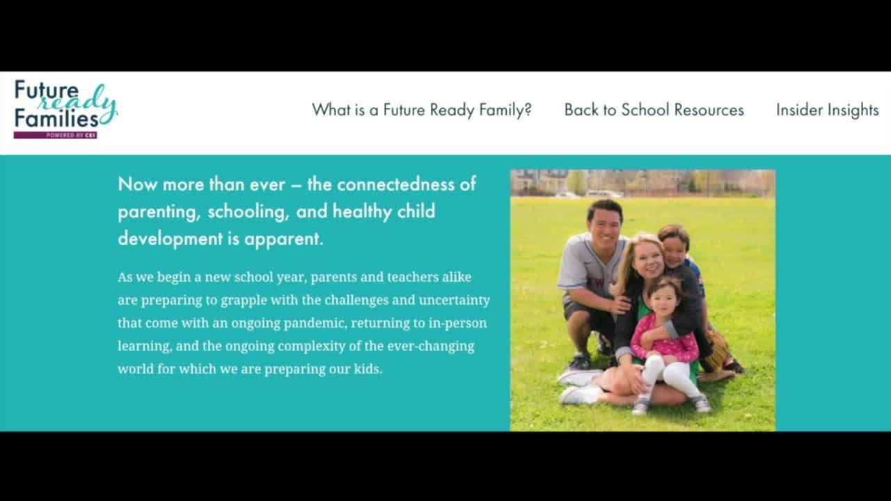 Future Ready Families provides resources for parents