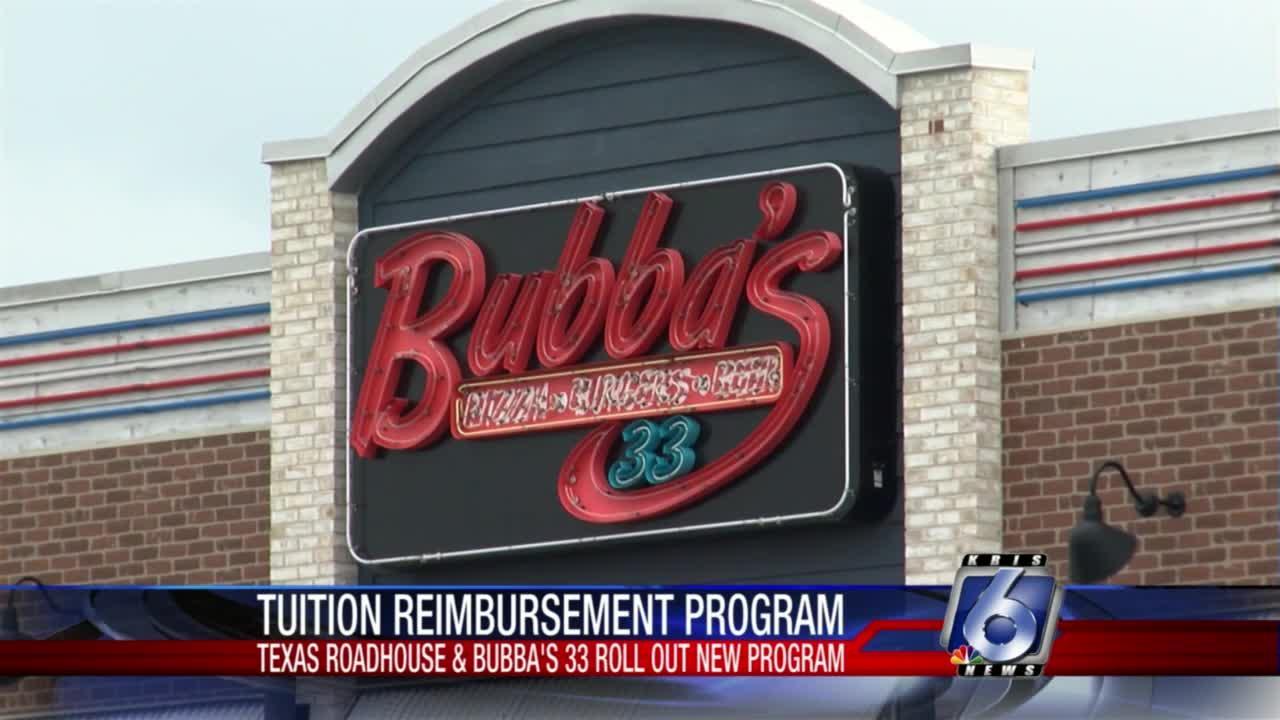Texas Roadhouse and Bubba's 33 tuition reimbursement program