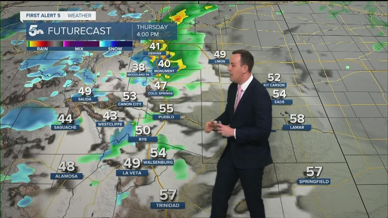 Could and cloudy with light rain and snow showers late today