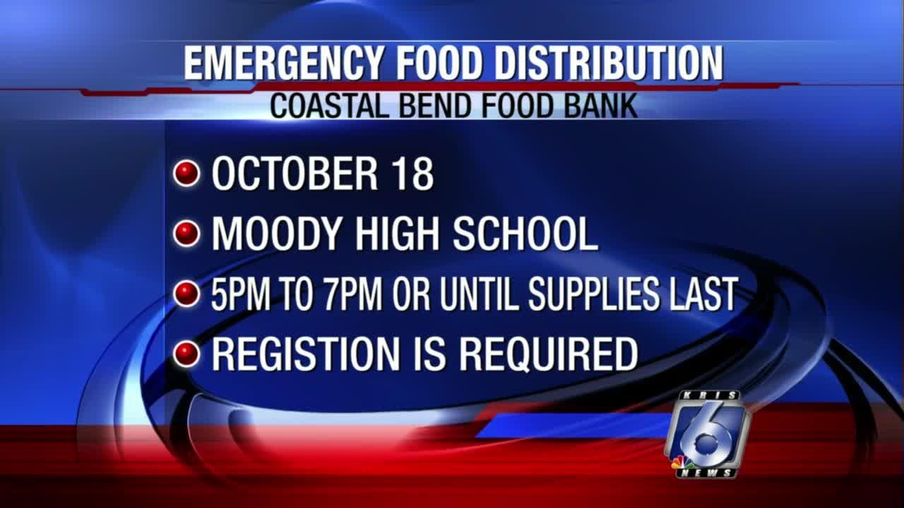 Coastal Bend Food Bank to host food distribution Monday