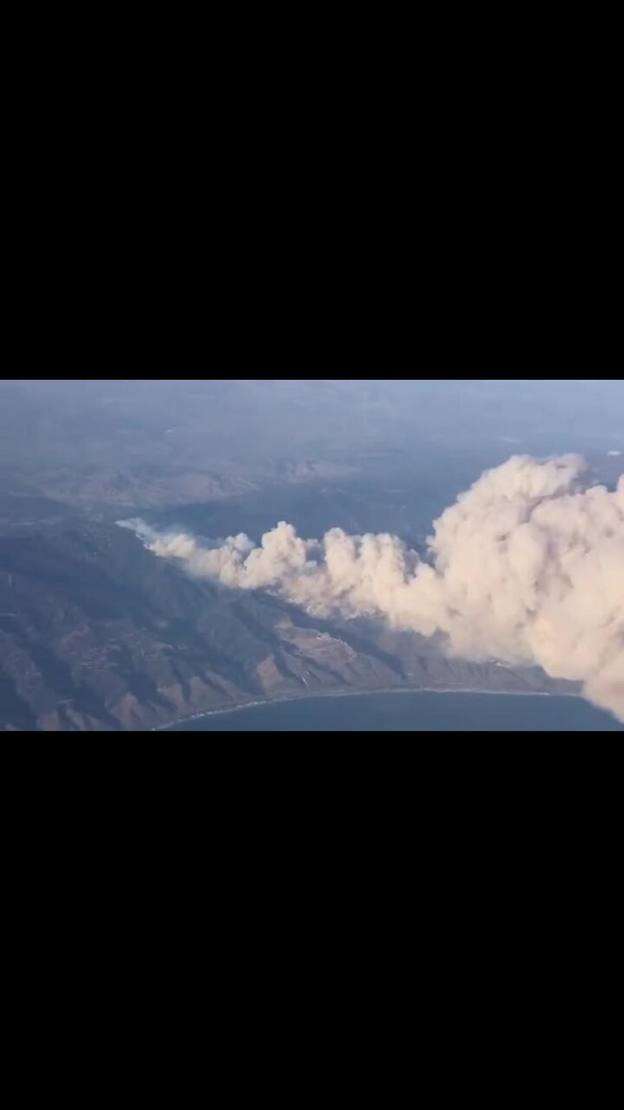 Airline passenger captures footage of Alisal Fire in Santa Barbara County