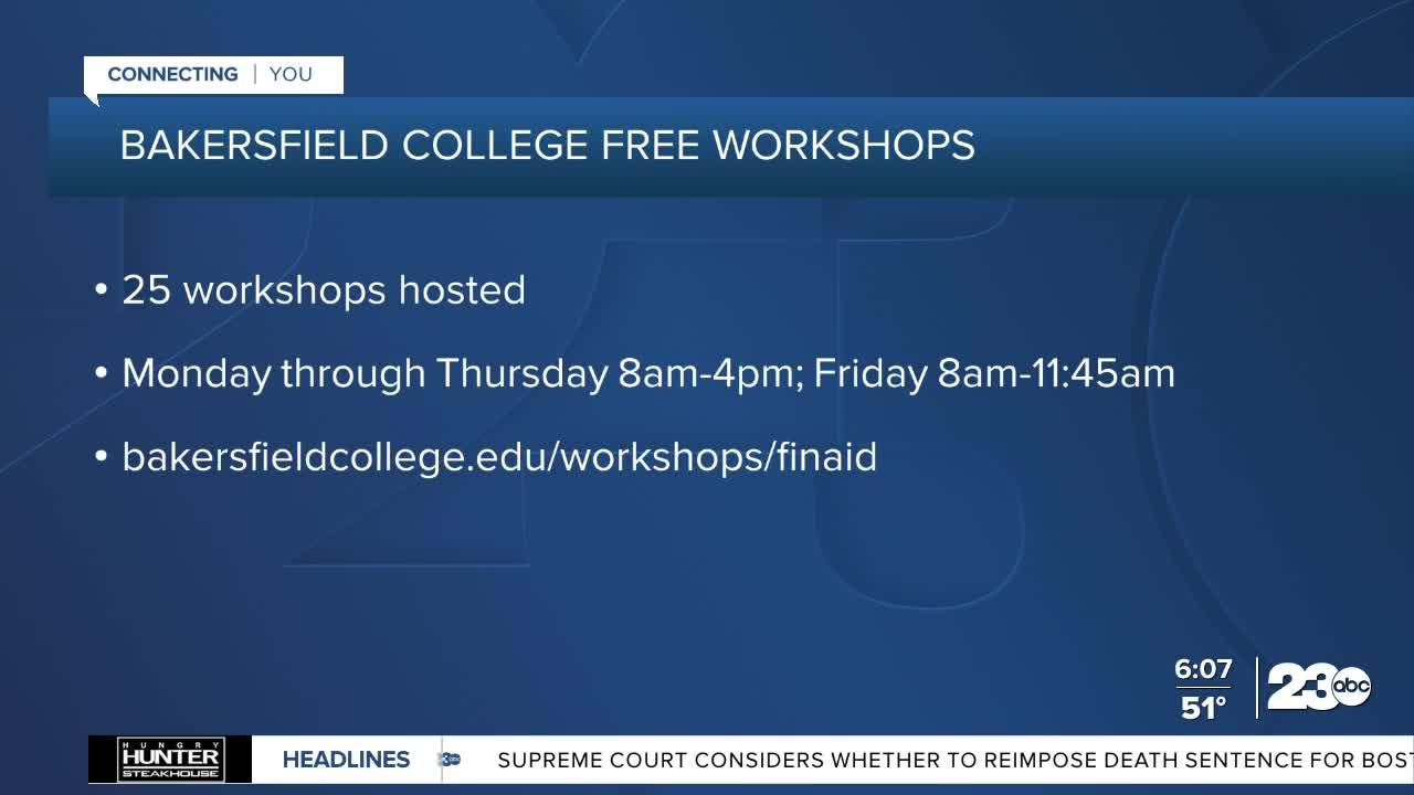 Bakersfield College to host free financial aid workshops