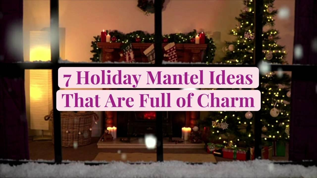 7 Holiday Mantel Ideas That Are Full of Charm
