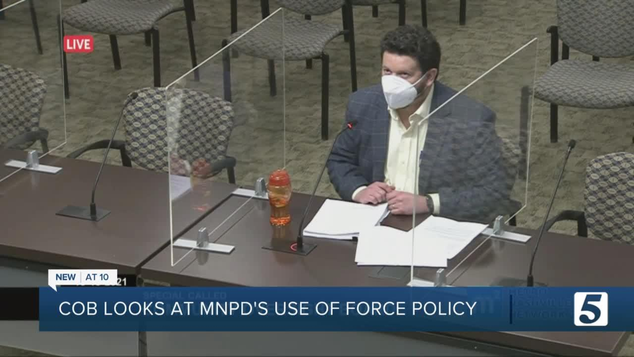 Community Oversight Board seeks public's input in expanding MNPD's definition of use of force