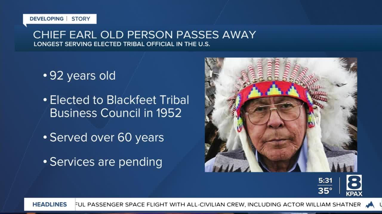 Blackfeet Tribe mourns the passing of Chief Earl Old Person