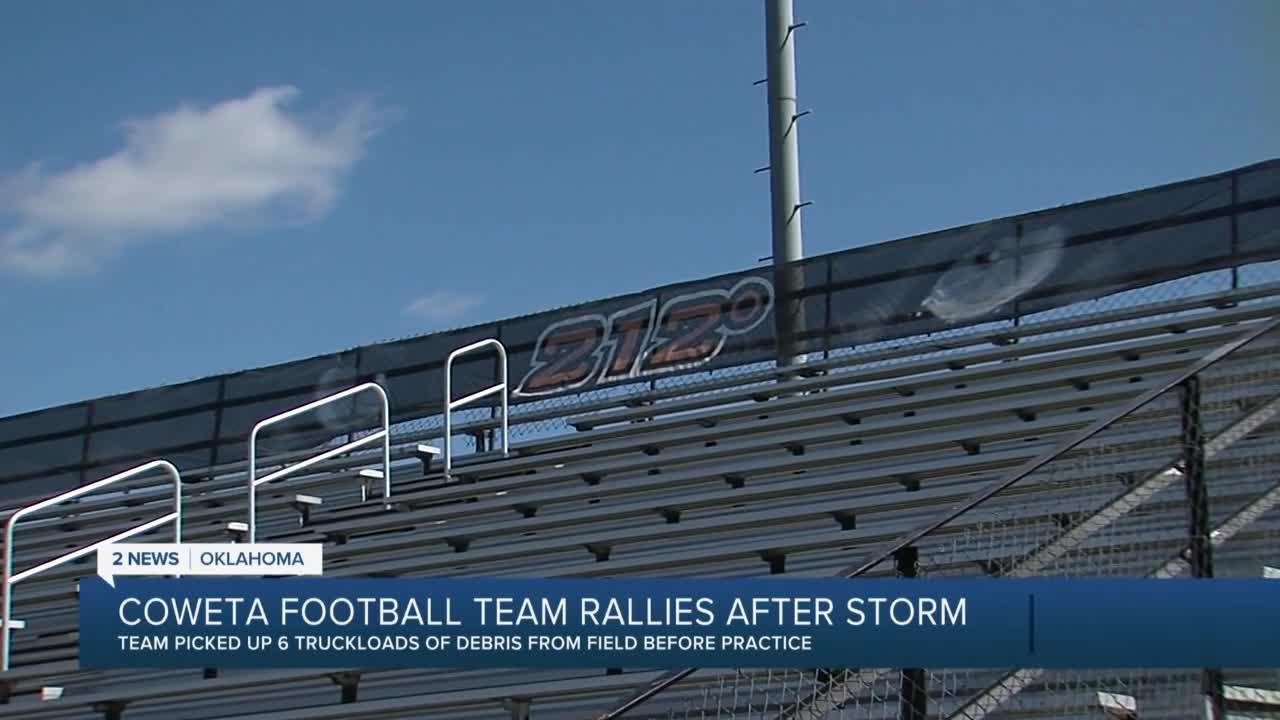 Coweta football team rallies after tornado
