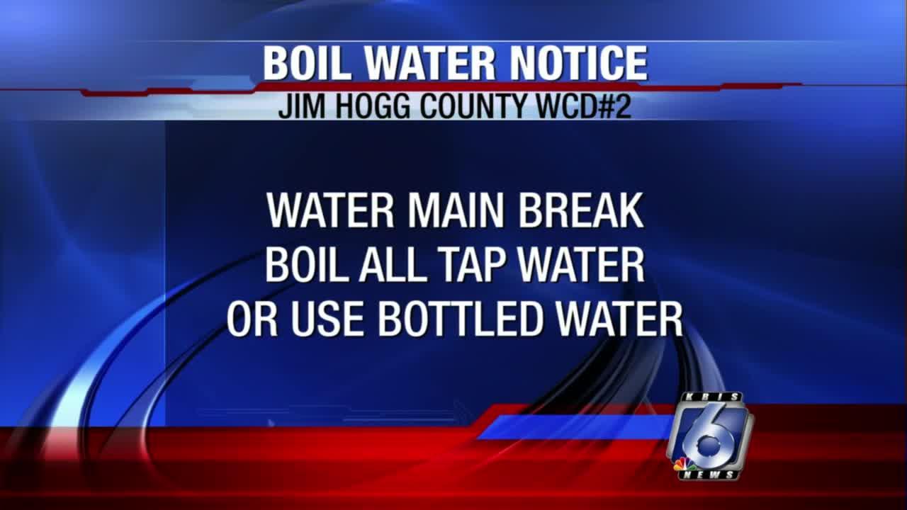 Water boil order still in effect for Jim Hogg County