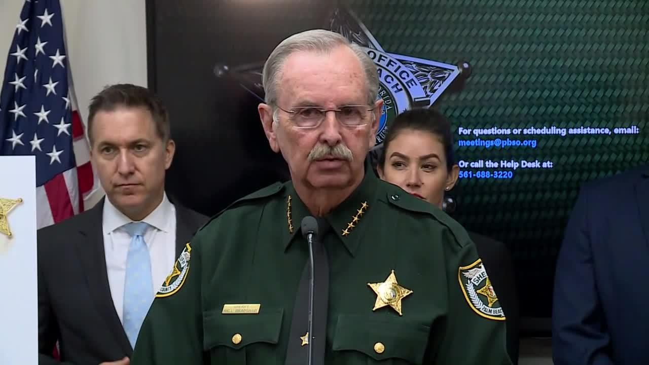 Palm Beach County Sheriff's Office announces arrest of 9 gang suspects