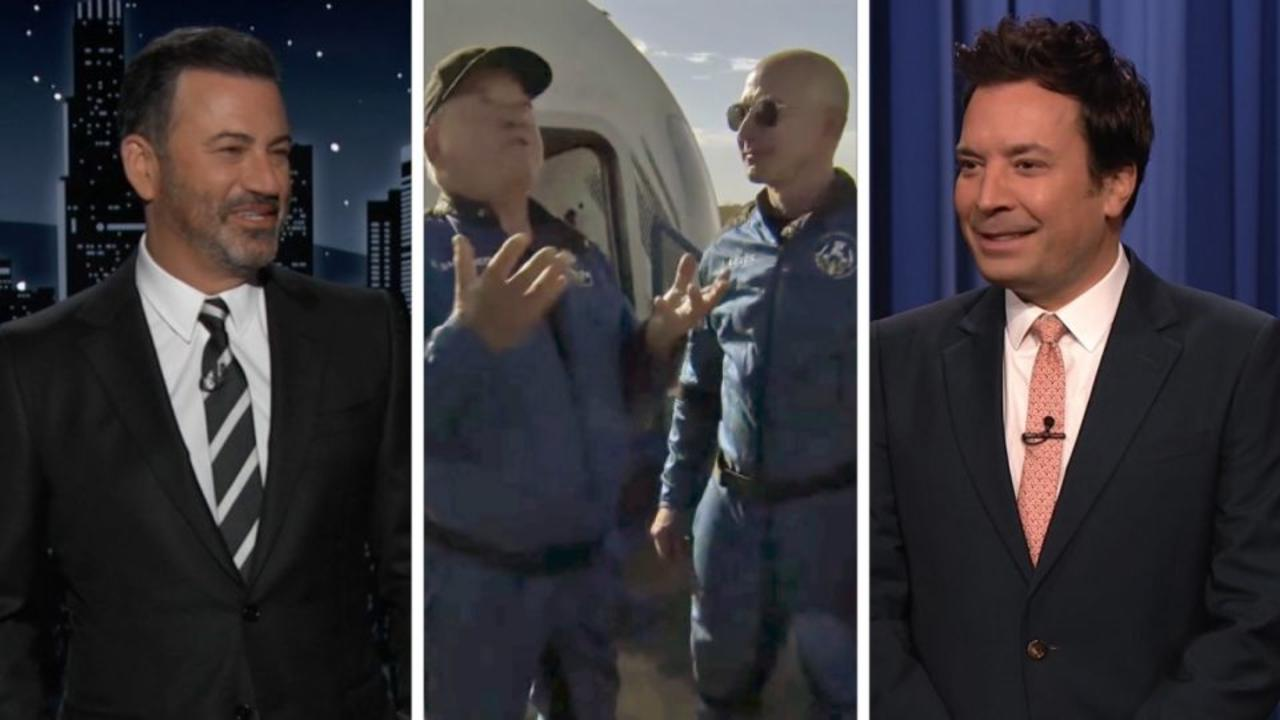 Late-night cracks up over Shatner's post-space talk with Bezos