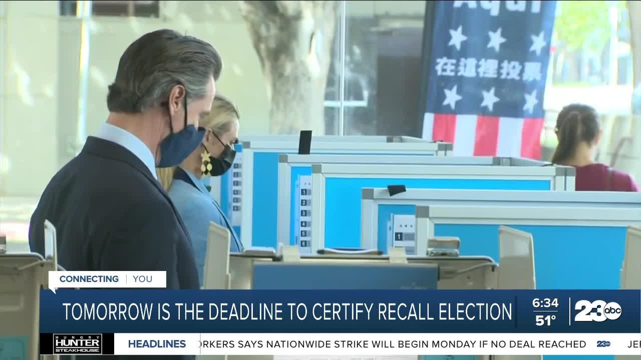 California counties need to submit finalized recall vote counts by Friday