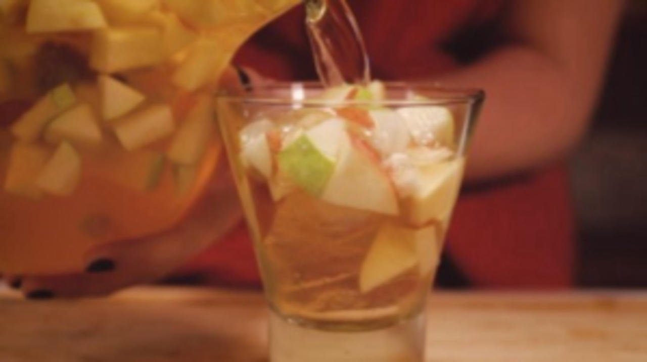 Cinnamon-Spiced Hard Cider Sangrias Are Perfect for Fall Nights at Home