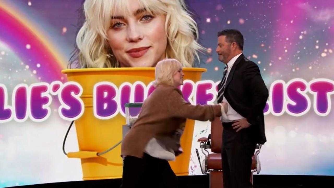Watch Billie Eilish punch Jimmy Kimmel