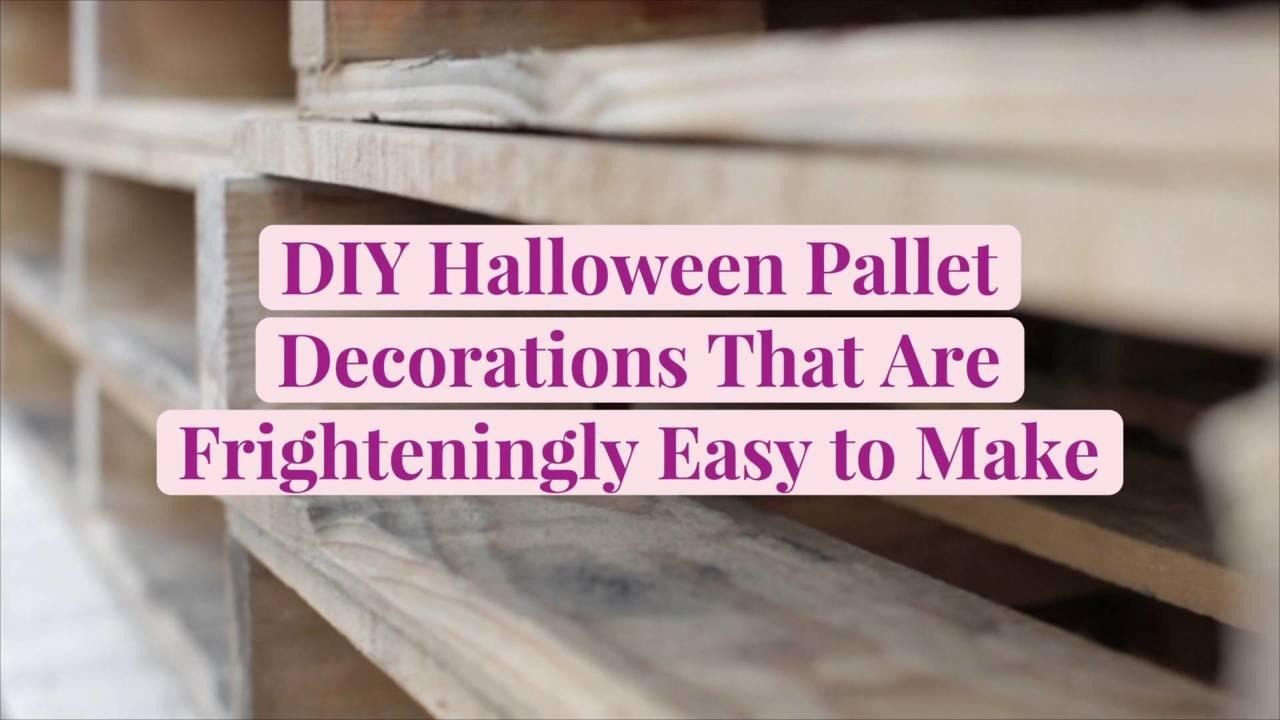 DIY Halloween Pallet Decorations That Are Frighteningly Easy to Make