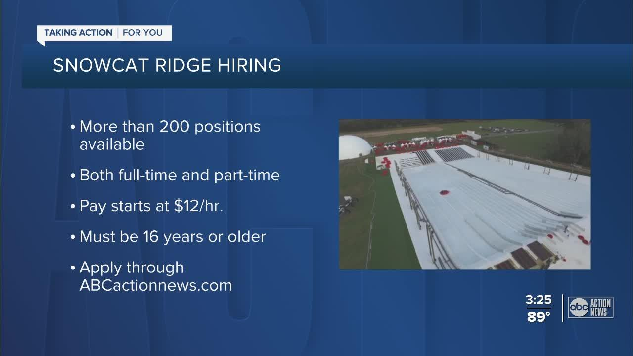 Snowcat Ridge hiring more than 200 full-time, part-time positions for 2021 season