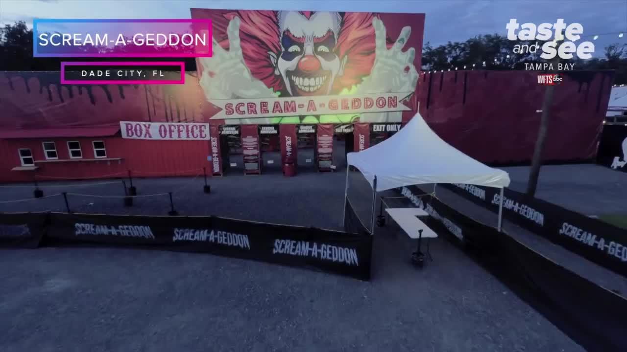 Drone Tour of Scream-A-Geddon in Dade City, FL