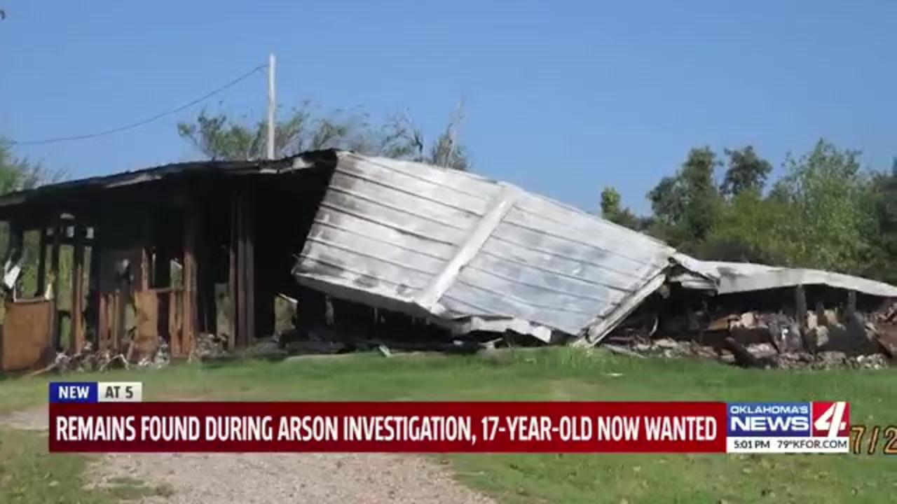 Oklahoma woman arrested after police find human remains during arson investigation