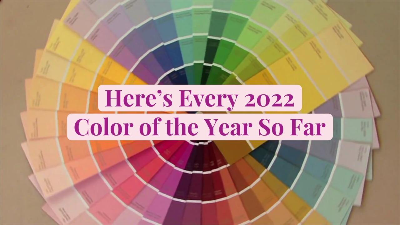 Here's Every 2022 Color of the Year So Far