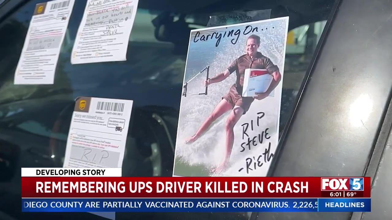 Memorial grows for UPS driver killed in California plane crash