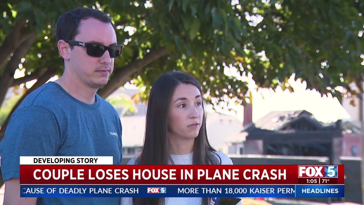 Newlyweds lose first home to plane crash just months after moving in