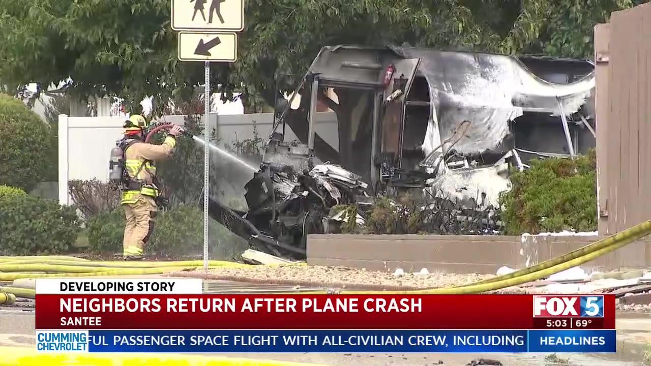 Residents return home days after fatal California plane crash