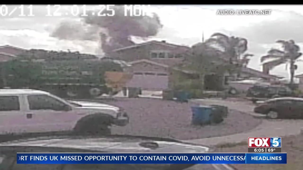 Surveillance video captures plane crashing into San Diego neighborhood