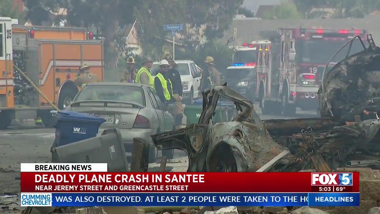 UPS employee among at least 2 killed after small plane crashes in San Diego neighborhood