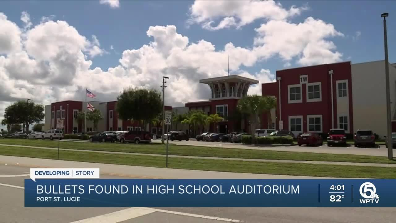 3 bullets found in auditorium at Treasure Coast High School in Port St. Lucie, officials say