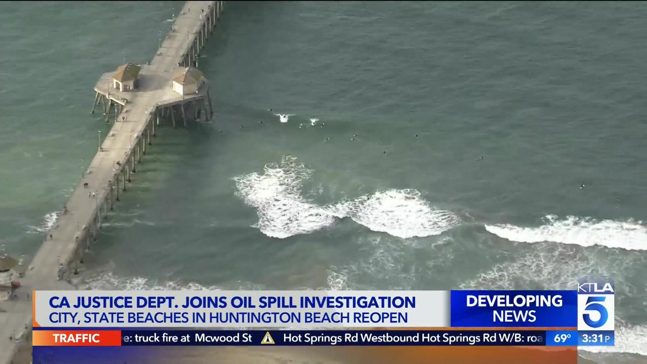 California Attorney General to investigate oil spill; Huntington Beach reopens