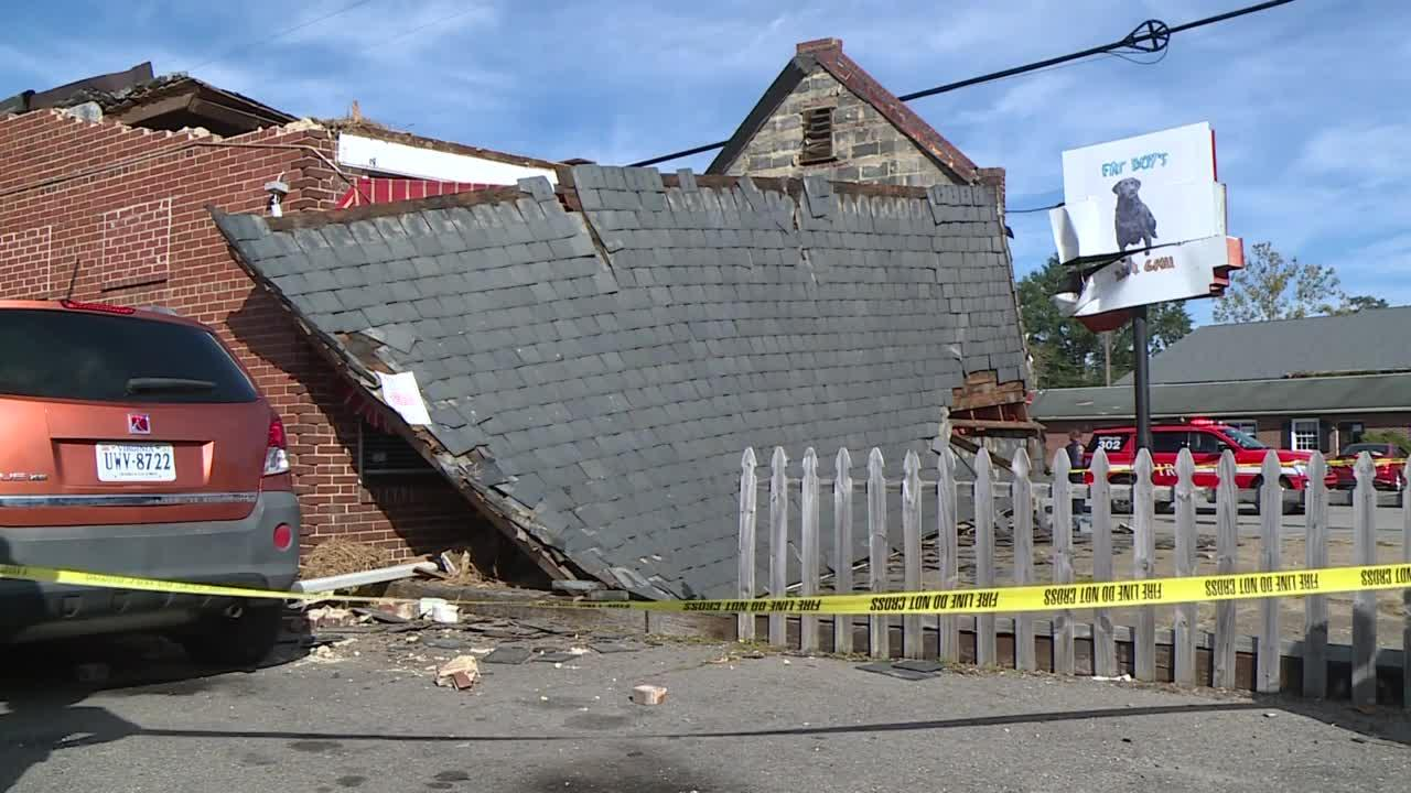 Roof collapses at Fat Boy's Bar & Grill in Sandston