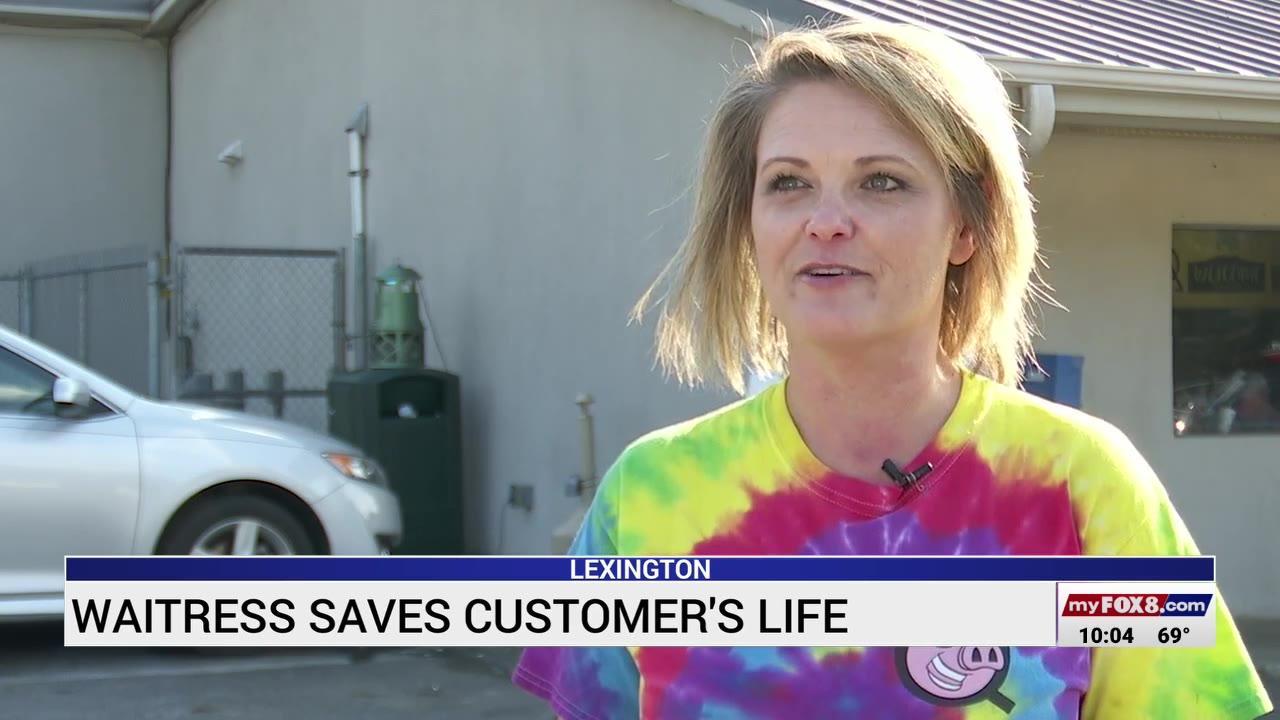 North Carolina waitress credited with saving woman's life while on the job
