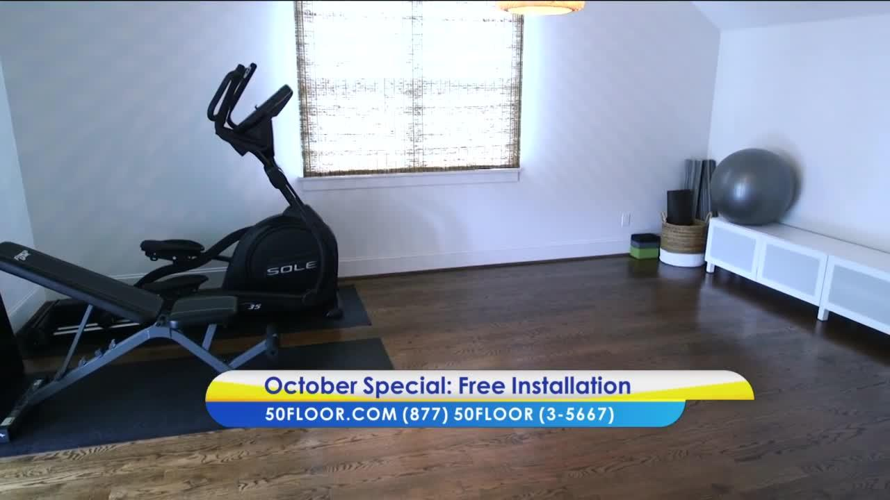 Enjoy free Installation with 50 Floor for October