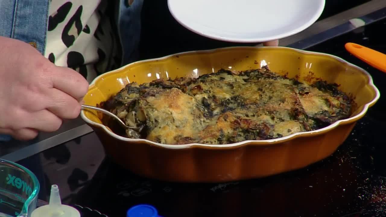 Spinach & Artichoke Stuffed Portobellos