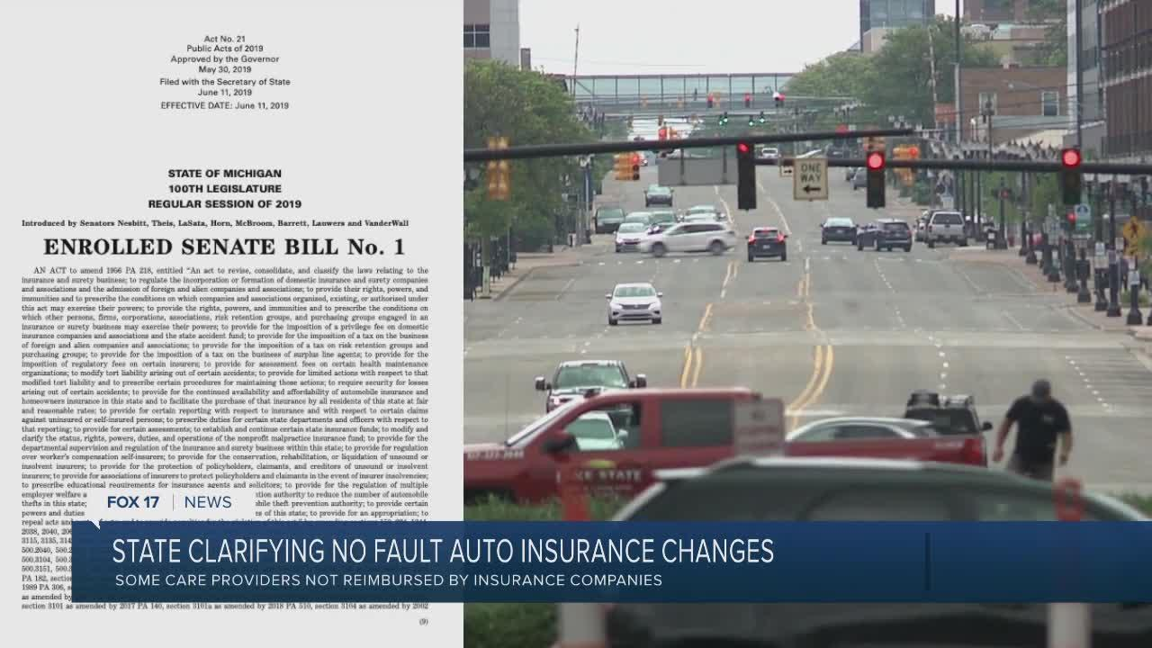 State Clarifies Changes to No Fault Auto Reform Law
