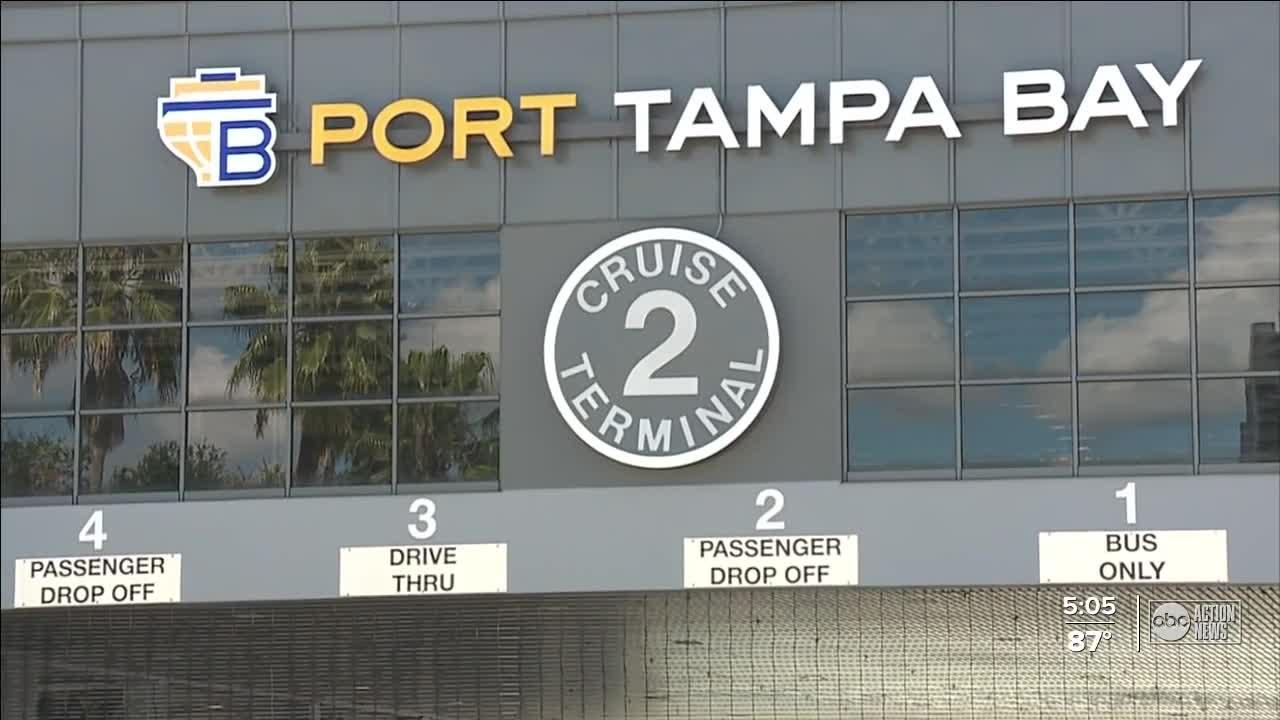 First cruise ship readies to set sail from Port Tampa Bay on Saturday