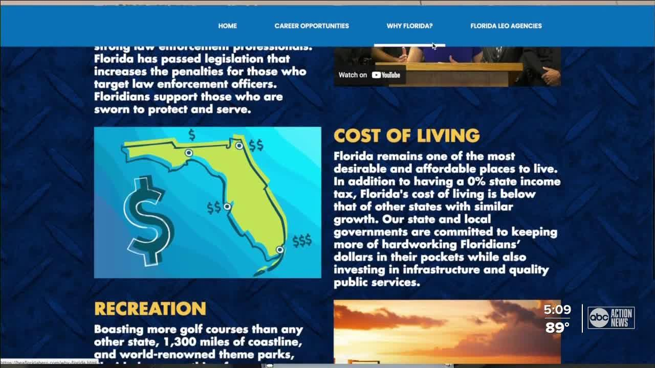 New website unveiled to recruit police officers to Florida