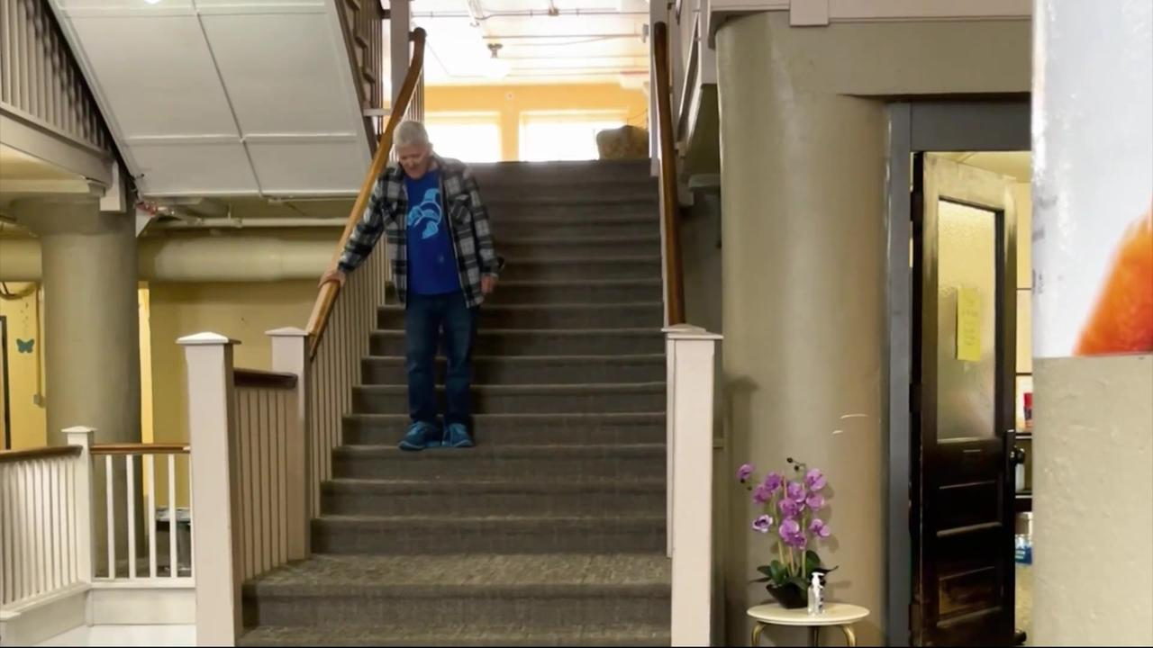 Broken apartment elevator forces disabled Iowa man to live in building lobby
