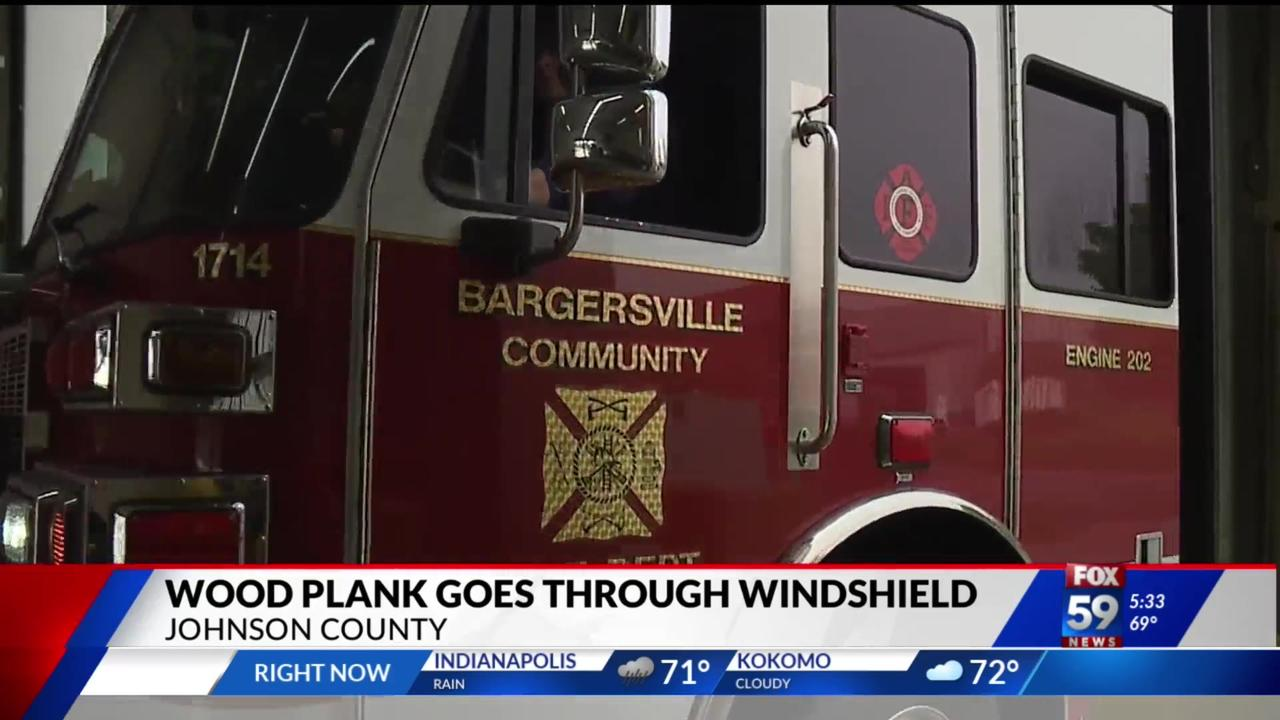 Indiana woman says it's 'a miracle' she's alive after wood plank flies through her windshield