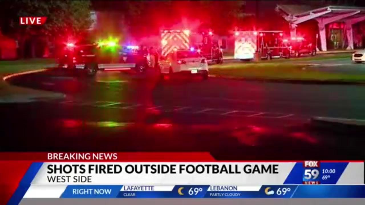 Indianapolis high school football game cut short after teen is shot outside