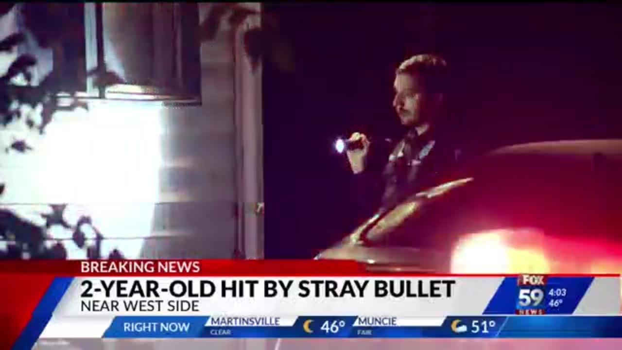 Indianapolis 2-year-old struck by stray bullet while asleep at home: police