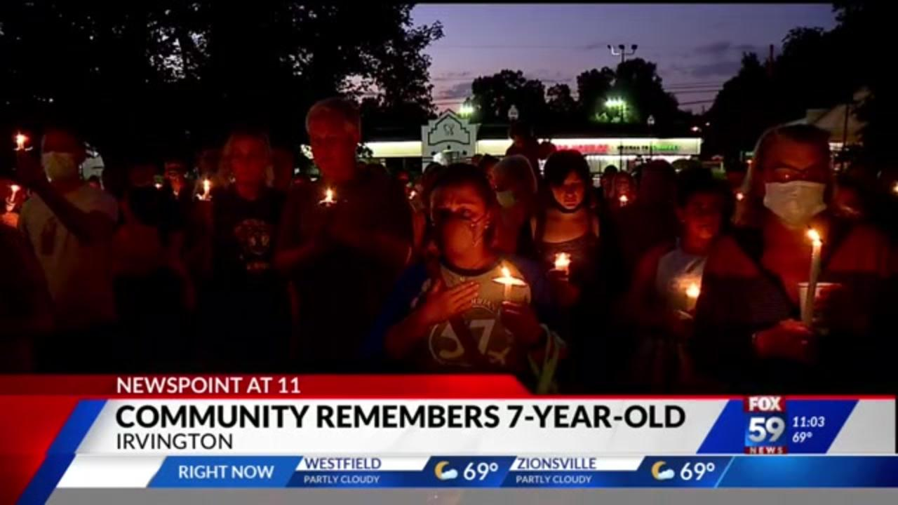 Neighbors hold vigil for Indiana 7-year-old killed in crosswalk adjacent to school