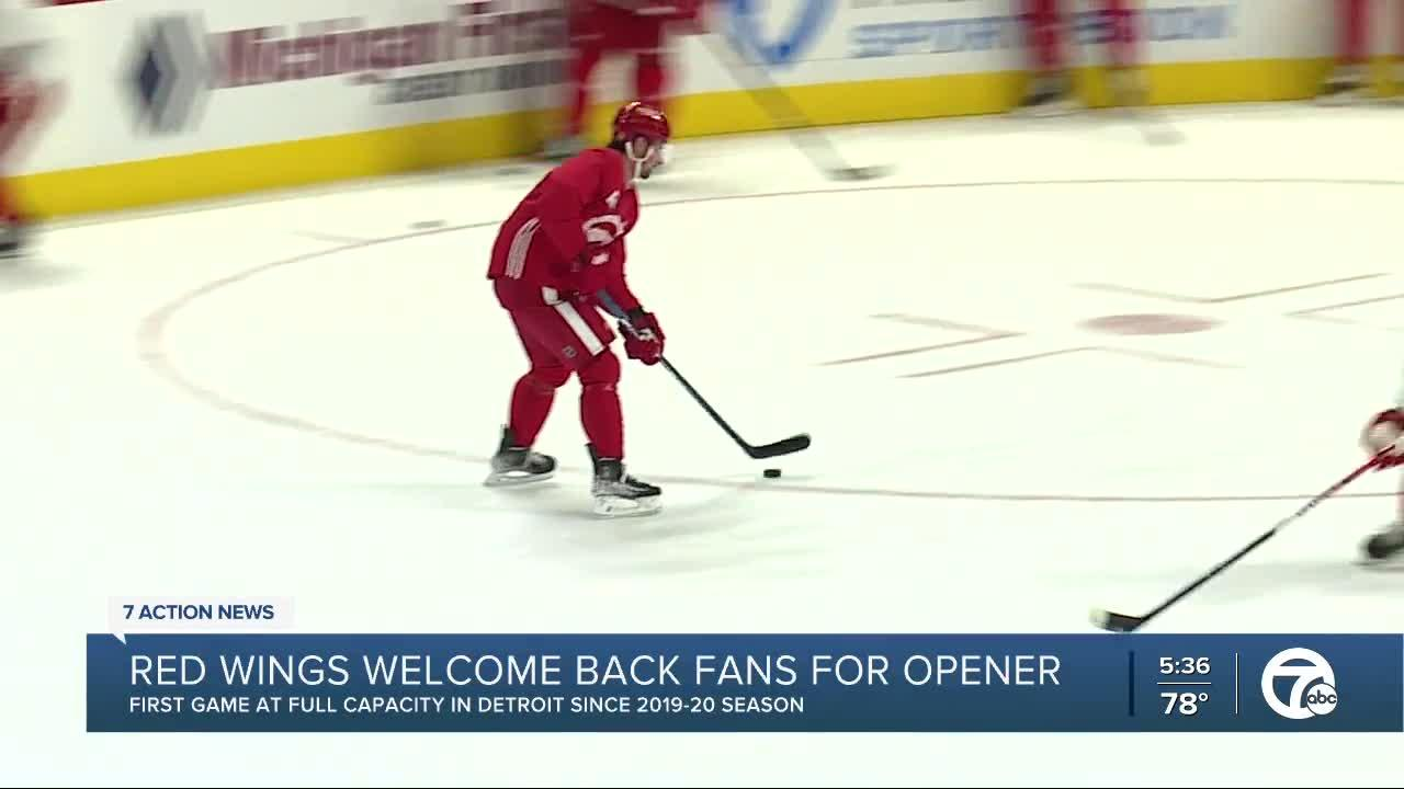 Red Wings welcome fans back for season opener