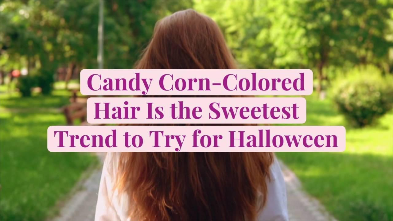 Candy Corn-Colored Hair Is the Sweetest Trend to Try for Halloween