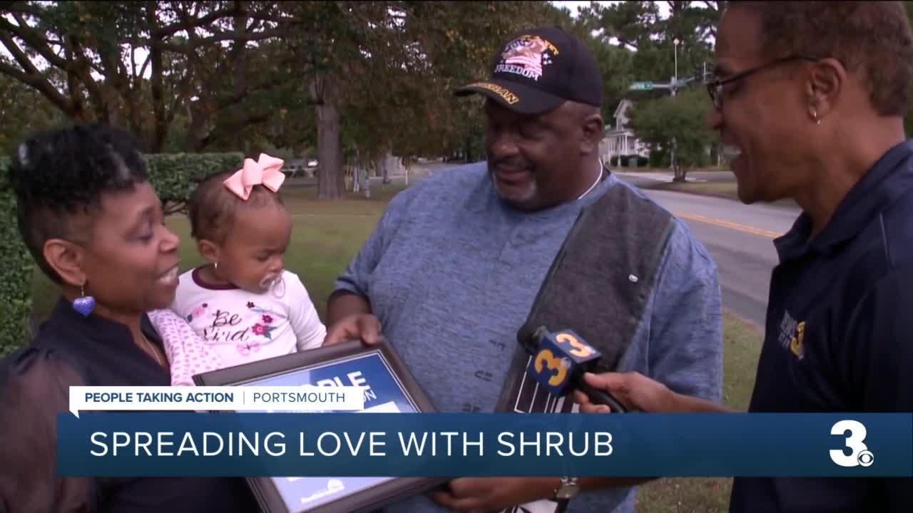 Spreading love with shrub