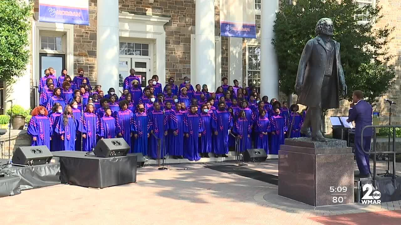Morgan State University's complete choir performed together for first time since start of COVID-19